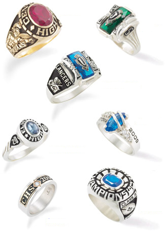hs students icon rings high school balfour